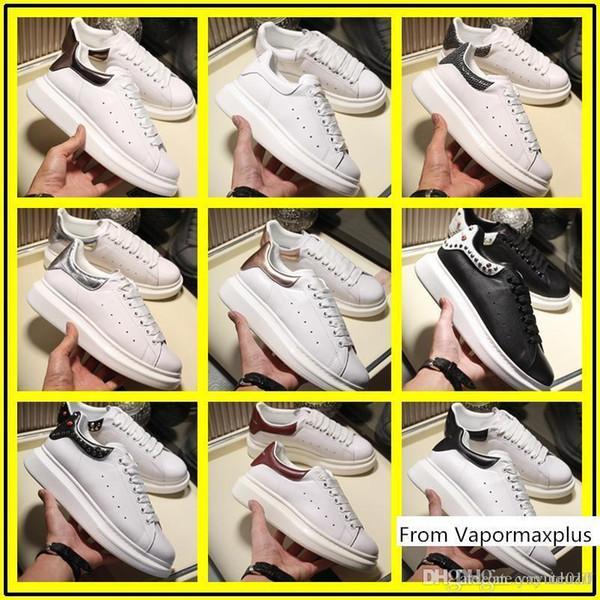 le scarpe di lusso di marca di Newst designer formali Bianco Low Cut in pelle uomini di sport scarpe da tennis