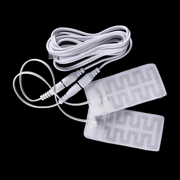 Gmarty 2 Pcs / Lot 5 * 9CM 5V USB Chaussettes Chauffantes Pads En Fibre De Carbone Semelles Chauffantes Électriques Hiver Bras Chauds Mains Taille Gants