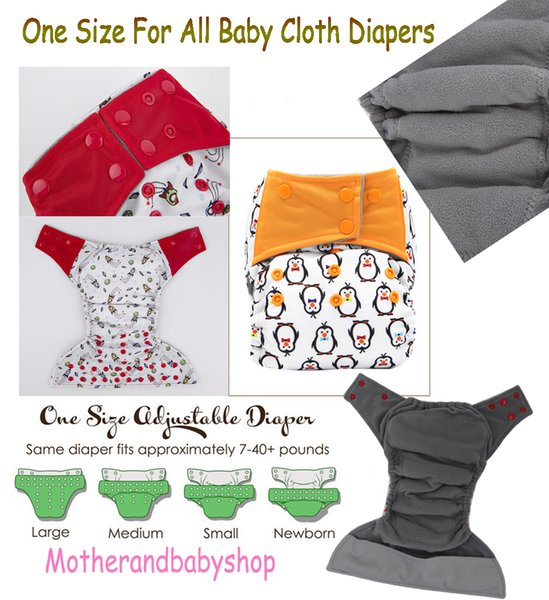Stylish One Size Fit All Sizes Reusable Cloth Diaper Washable Cloth Diapers One Size Adjustable Diaper Cover Free Size Adjustable Sunny Baby