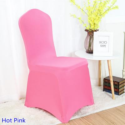 Colour Hot Pink lycra chair covers for wedding banquet chair decoration spandex stretch party cover wholesale