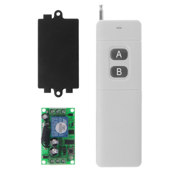 12V 2CH Relay Long Diatance Remote Control Switch Receiver + 2-Key Transmitter