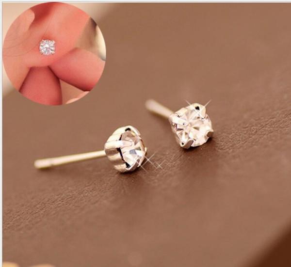 20 paires / lot, boutons d'oreille en acier inoxydable personnalité anti-allergique non-décolorant boucle d'oreille mosaique cristal zircon mâle universel