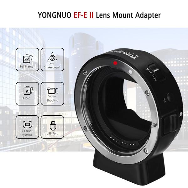 Yongnuo Ef-e Ii Lens Montaj Adaptörü Halkası Otomatik Odaklama Ile A6300 A6000 A7mii A7riii A7 E-montaj Ef / ef-s Serisi Için