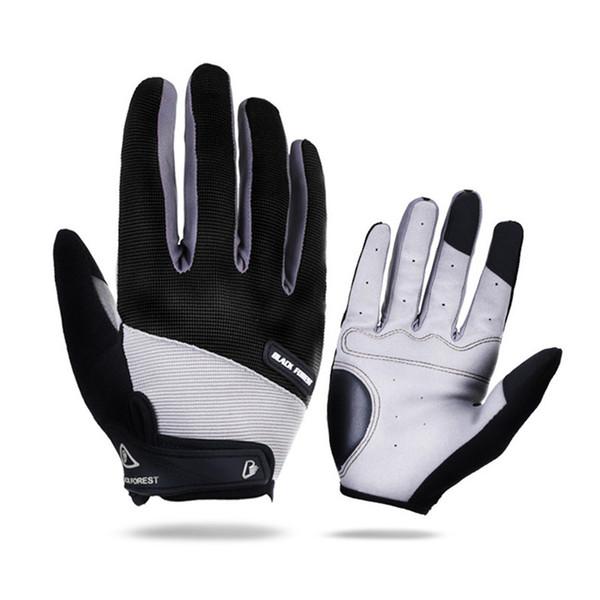 Мужчины Женщины полный палец Велоспорт перчатки велосипед сенсорный экран противоударный автомобильный длинный цикл перчатки Спорт дышащий