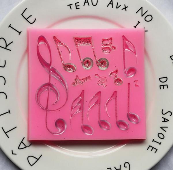Музыкальная нота помадка конфеты силиконовые формы для украшения торта сахарного ремесла кекс топпер, смолы, полимерная глина, проект крафта, изготовление мыла воска