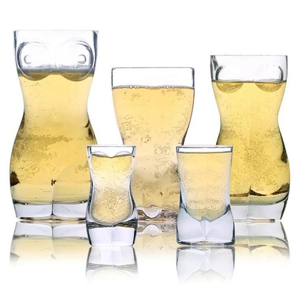 Creative Clear Wine Glasses For Man Fashion Whiskey Beer Crystal Wine Glasses For Club Party Creative Human Cup