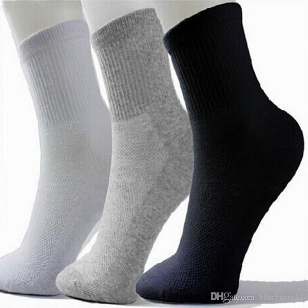 Homens Hot Athletic Socks Desporto Basquetebol longo meias de algodão masculina Primavera Verão corrente fria Soild malha meias para Todos frete grátis Tamanho