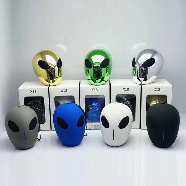 Heiligtümer Schädel X18 Alien Kopf Drahtlose Bluetooth Lautsprecher Cartoon Lautsprecher Outdoor Tragbare Lautsprecher TF USB Karte Handfree Music Player