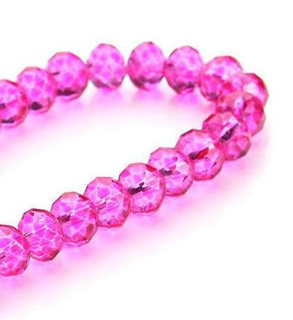 500pcs/LOT DARK PINK Quality Faceted 4 SIZES #5040 RONDELLE Wheel glass crystal beads DIY JEWELRY MAKING