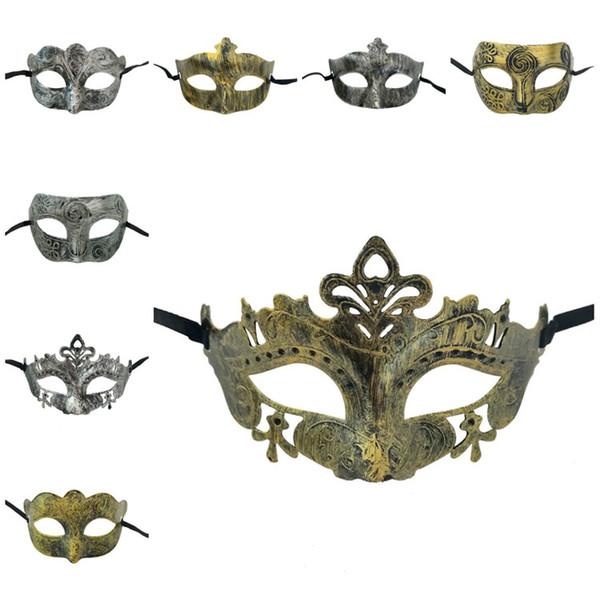 Горячая Dancing Party Mask Человек Женщина Искусственное Baron цвет маски для лица Hood древнегреческий Рим Хэллоуин маски партии SuppliesT2I5697