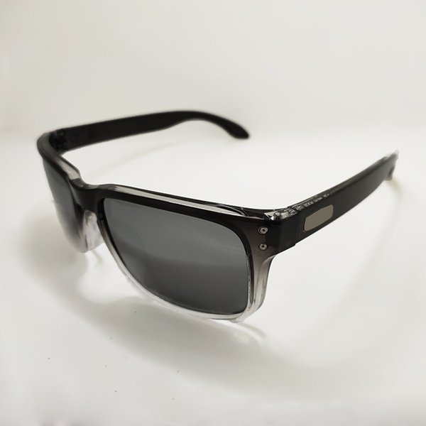 Gloss black white frame silver lens
