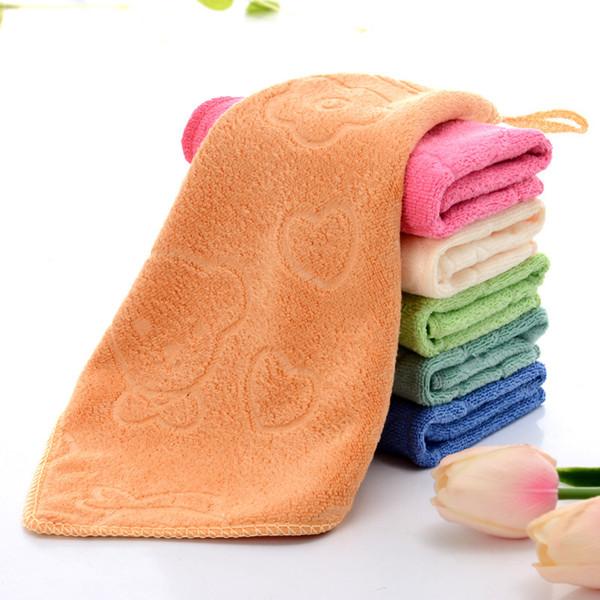 top popular Free Shipping Children Towel Wash Towel Polishing Drying Cloths 25*25cm 2020