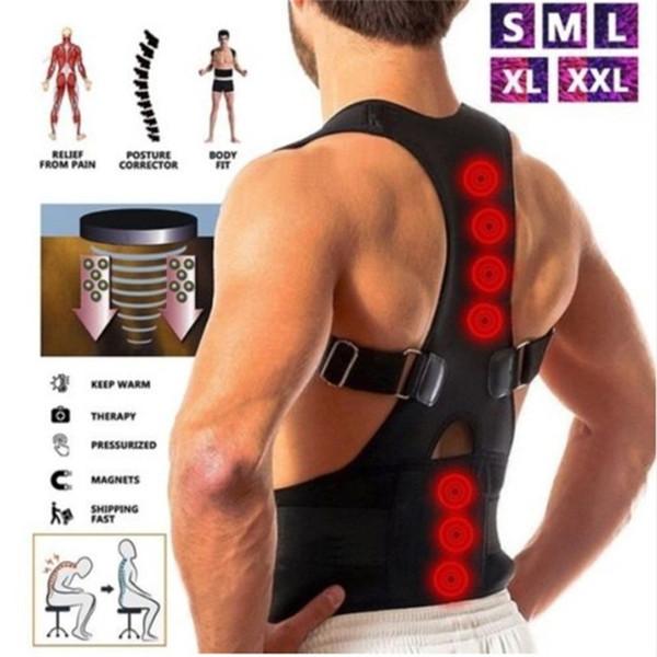 Magnetic Therapy Posture Corrector Bandage Spine Support Belt Adult Back Corset Shoulder Lumbar Back Support Posture Correction #542246