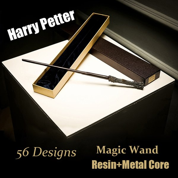 Harry Potter Cosplay Toys 56 Designs Harry Potter Metal Core Magic Wand With Gift Box Kids Toys Christmas Gift For Children SS87