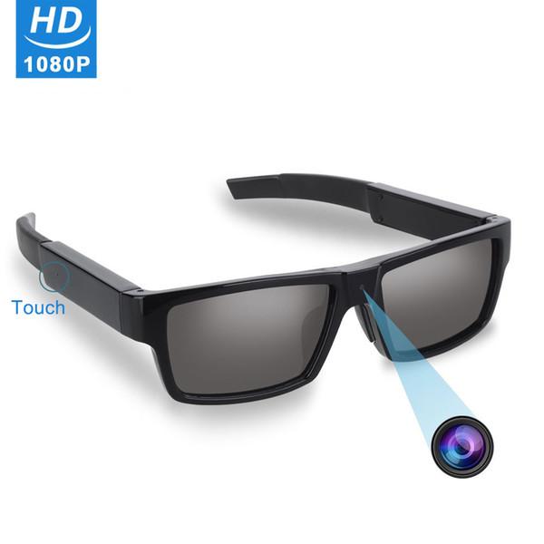 HD 1920x1080P Сенсорная камера Солнцезащитные очки Видеорегистратор Loop Recording Очки DV DVR с 16 ГБ Micro SD Card для наружного / обучения / спорта