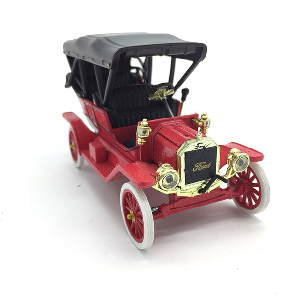 1/43 Old-fashioned Ford Classic Car Rare Red Classic Toy Car Collection Display Model Alloy Plastic Die-casting Model