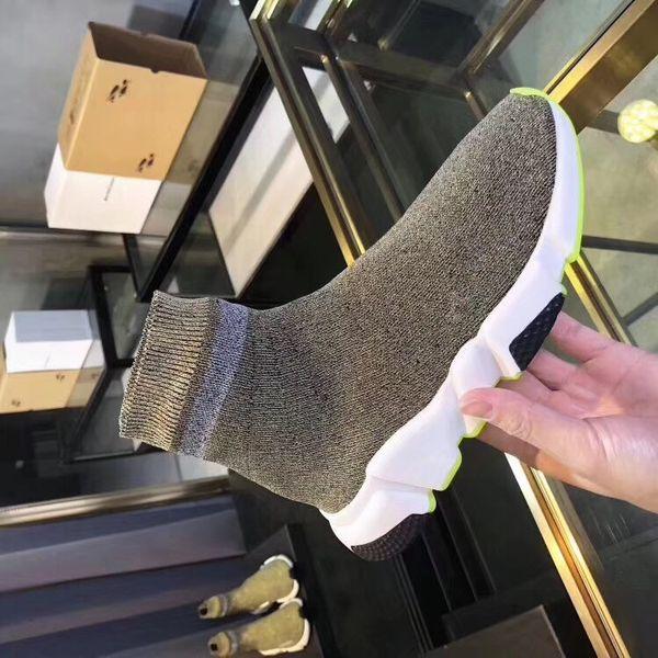 2019 мужчины женщины дизайнер носки обувь скорость тренер черный белый блеск розовый синий мода роскошные мужские тренеры повседневная холст кроссовки fz190803
