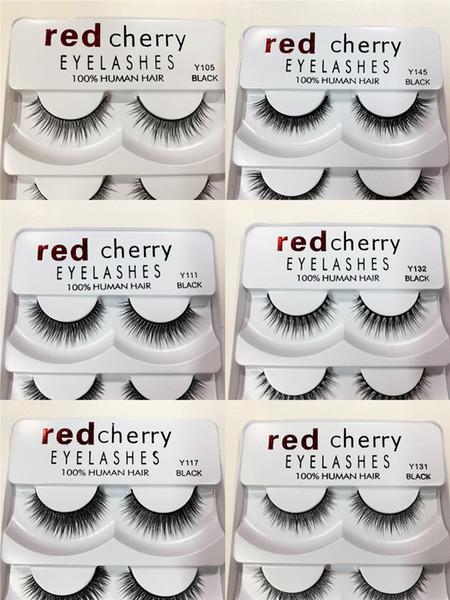 Red Cherry Lashes False eyelashes 5 pairs Faux Cils 3D Mink Eye lashes Handmade Eyelash extensions Natural Long Professional Eye Makeup Tool