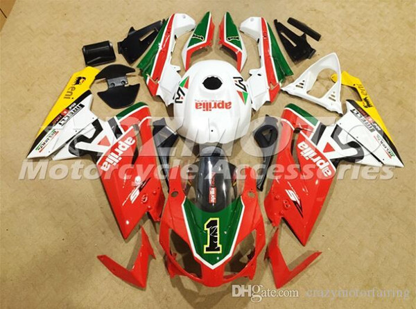 Injection mold Fairing KIT for Aprilia RS4 125 06 07 08 09 10 11 RS4 RSV 125 2006 2009 2011 White Red ABS Fairings set+3gifts APP4