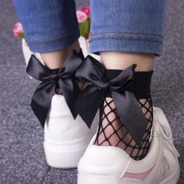 Fashion Women Ruffle Fishnet Ankle High Socks Mesh Lace Fish Net Short Socks