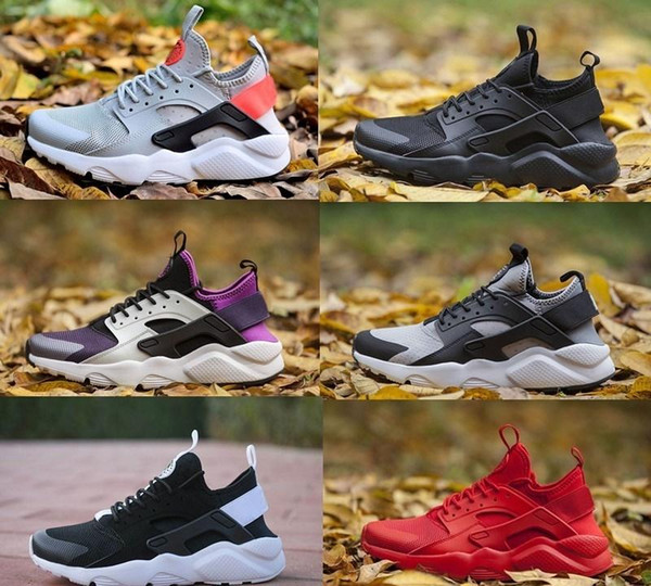 Huarache 4.0 1.0 chaussures de course Triple Noir Blanc Huaraches gris Respirant hommes air Camouflage Baskets femme Chaussures plein air Chaussures de sport 36-45