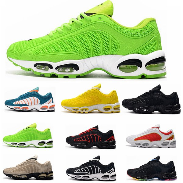 nike air max Off white Flyknit Utility TN Plus Shoes Respirant Mesh Chaussures Homme Tn REqUin Noir Casual Chaussures De Course Taille 7-13