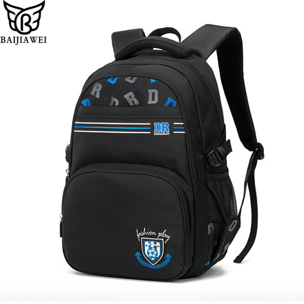 BAIJIAWEI New Children School Bag Breathable Boys Girls Backpack Wear-resistant Waterproof Bags Decompression Backpack