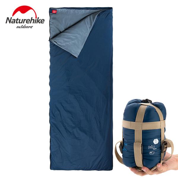 Naturehike sacs de couchage Camping en plein air Randonnée Printemps Automne Camping en plein air Randonnée NH Enveloppe Sac de couchage 205 * 85cm C18112601