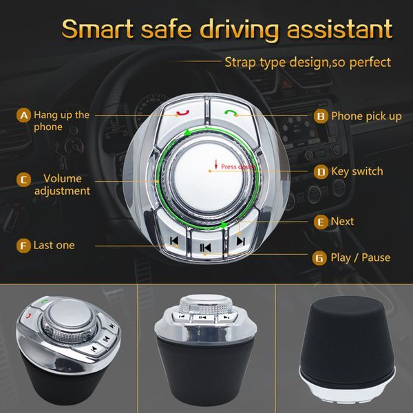 Neue Tassenform mit LED-Licht 8-Key-Funktionen Auto-Wireless Steering Wheel Control-Taste für Auto Android Navigation Player # 5429/5677