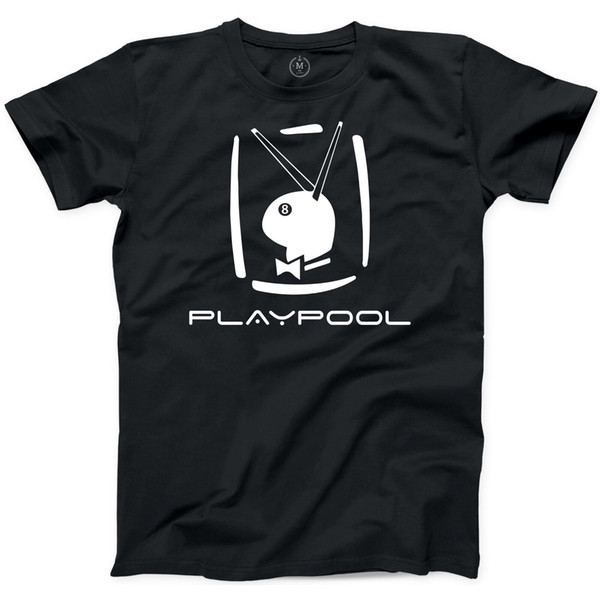 Playpool Tshirt Pool Eight Ball Games Tournament Fun Beer Drinks Play Bunny TeeFunny free shipping Unisex Casual Tshirt