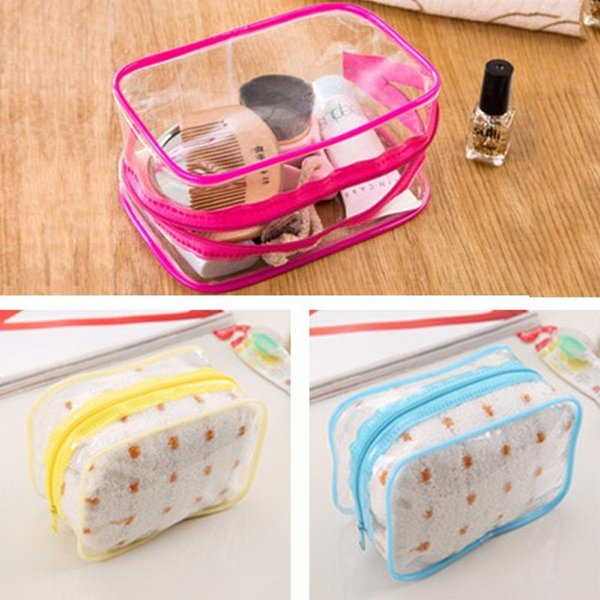 Transparent PVC Zipper Cosmetic Sport Bags Stripe Portable Waterproof Makeup Tool Storage Ladies Bag Swimming Bags #15 #86028