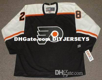 Kişiselleştirilmiş Özel 28 CLAUDE GIROUX Philadelphia Flyers 1990'ların CCM Vintage Hokey Forması