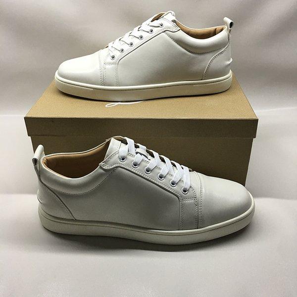 Zapatos de diseñador de alta calidad para hombres, mujeres, pantalones rojos, zapatillas de deporte planas Junior Spikes, zapatos de vestir de cuero genuino de París.
