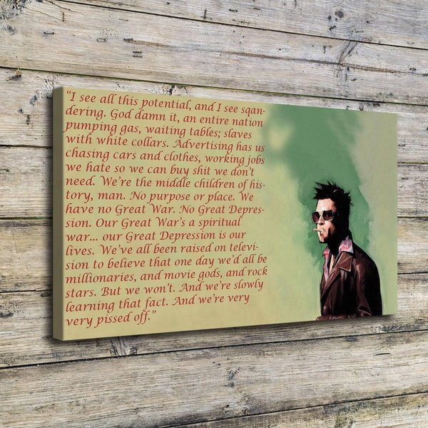 Fight Club Tyler,Home Decor HD Printed Modern Art Painting on Canvas (Unframed/Framed)
