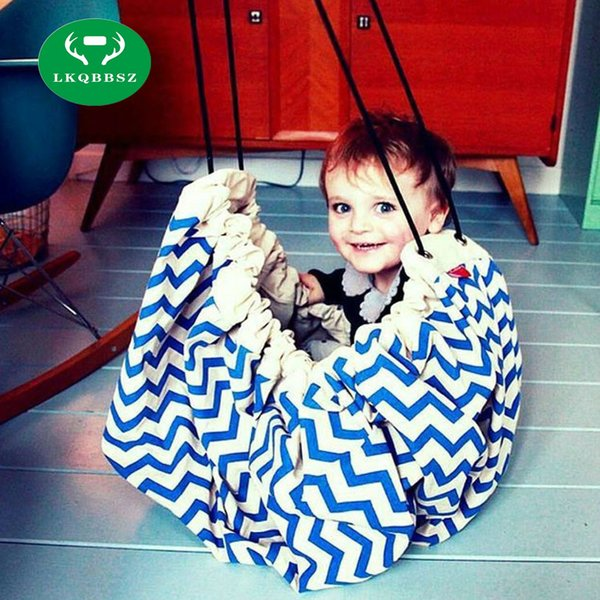 LKQBBSZ Portable Kids Toy Storage Bags Convenient Outside Picnic Play Mat Toys Organizer Box Practical Storage Bags for Baby