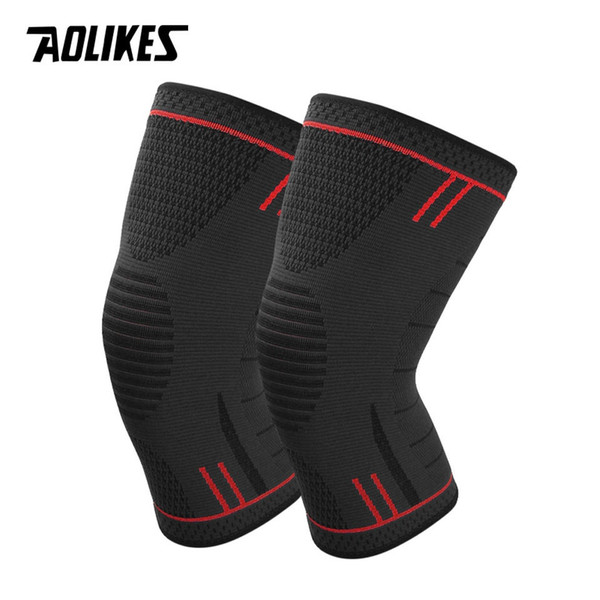 AOLIKES 1 Pair Non Slip Silicone Sports Knee Pads Support for Running,Cycling,Basketball,Arthritis&Injury Recovery Kneepad #18276