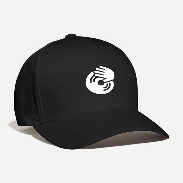 Dj musicproducer vinyl club raver house electronic Cap Customized Embroidered Rap Hat Deep House Unisex Curved Baseball Dad Cap