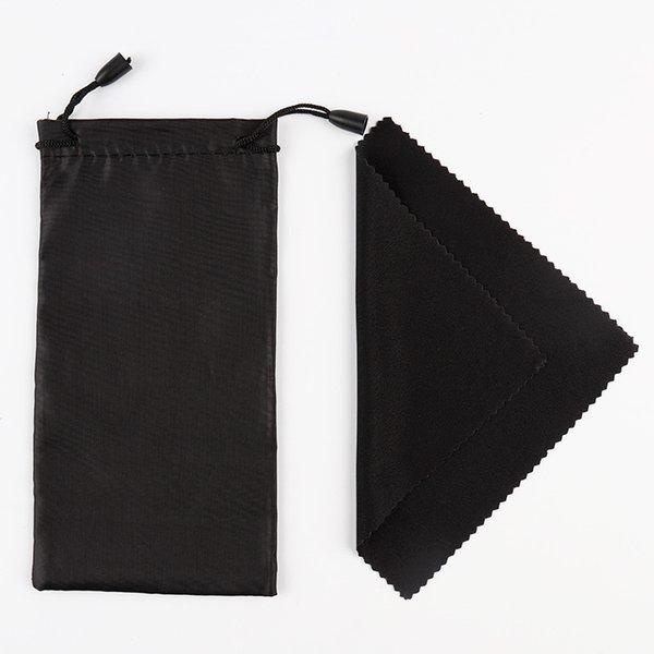 100pcs sac de lunettes de soleil souple avec chiffon de nettoyage microfibre poussière étui de rangement étanche lunettes sac de transport portable étui à lunettes