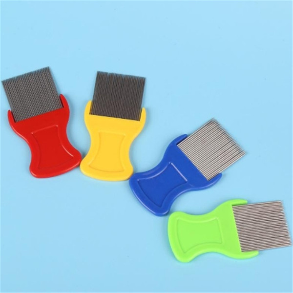Dog Cat Head Hair Lice Nit Comb Pet Safe Flea Eggs Dirt Dust Remover Stainless Steel Grooming Brushes Tooth Brushs 20190413ayq