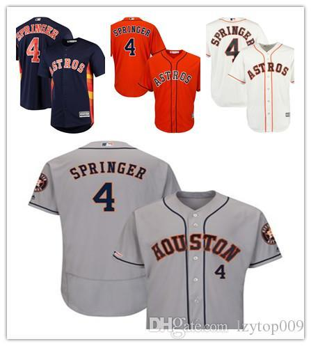 827543ff0 Mens Astros 4 George Springer Majestic Navy Official Cool Base Player Houston  women kids Jersey