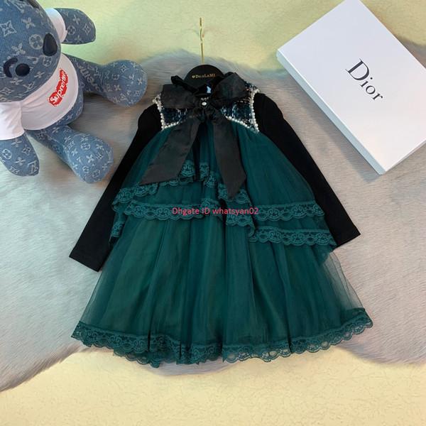 HotGirls vestidos conjuntos niños diseñador ropa chaleco vestido + camisa 2 piezas forro algodón conjuntos otoño camisas de fondo conjuntos