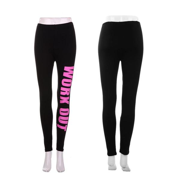 Hot Punk Rock Sports Leggings Women Pencil Fitness Workout Letters Print Pants Lady Gym Clothes Sportwear Leggins drop shipping