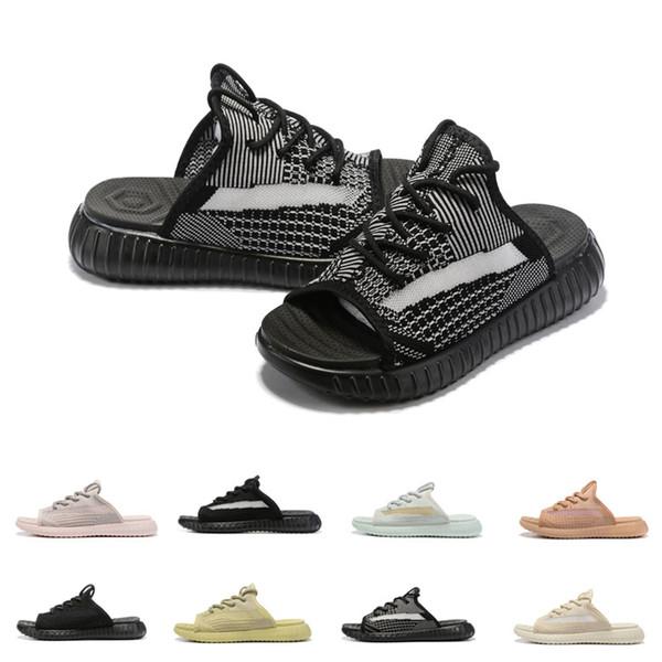 2019 Marka yeni kalın tabanlı platform erkekler yaz sandalet kadın burnu açık rahat terlik sandalet moda uçan örgü rahat sneakers
