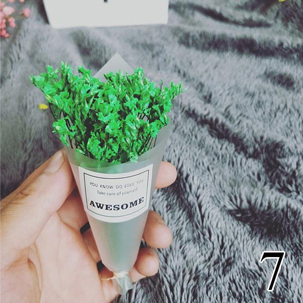 Mini ramo seco Flor de lavanda hecha a mano Ramo de nomeolvides artificial para accesorios de fotografía Decoración del hogar