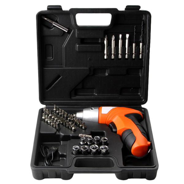 top popular Freeshipping 45Pcs lot 4.8V Cordless Screwdriver Drill Driver Bits Set Rechargeable Electric Tool 2021