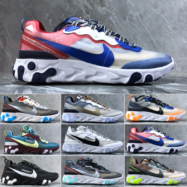 2019 React Element 87 55 running shoes for men women white black Royal Tint Desert Sand Cycling breathable sports sneaker size 36-45 RT-QH