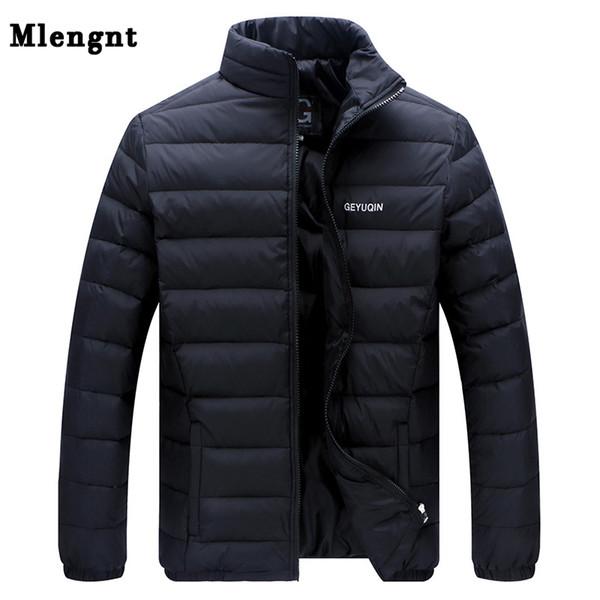 Большой размер 2019 белая утка вниз Мужская Зимняя куртка Ultralight пуховик вскользь Верхняя одежда Сноу Теплый меховой воротник Марка пальто ветровки SH190924