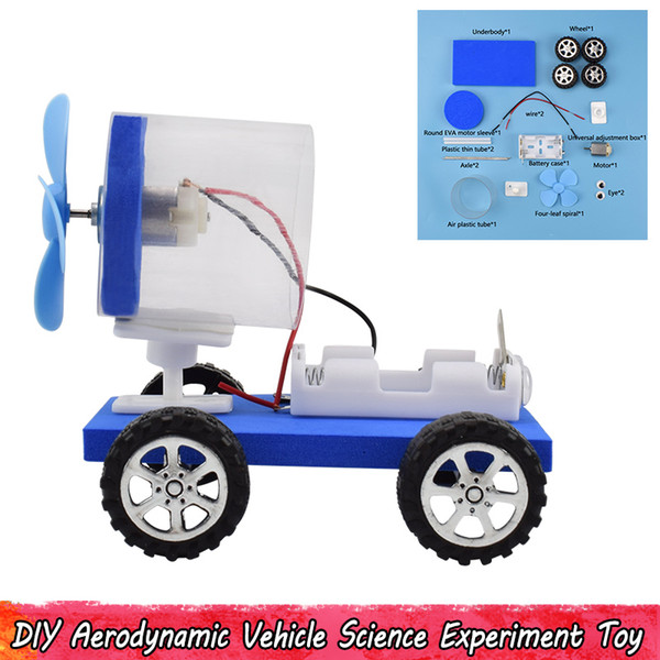 best selling Plastic Electric Aerodynamic Vehicle Toy Science Experiment Assembly Model Kits Creative Gifts for Kids Teens School Supplies
