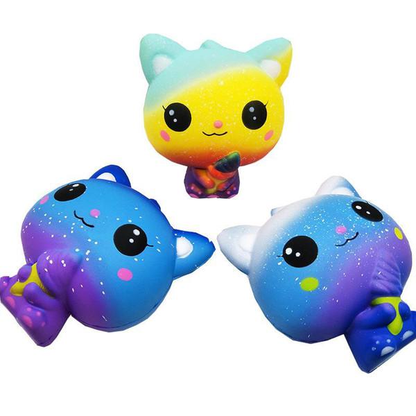 Squishies Gelado Jumbo Gato Lento Rising Stress Relief Galaxy Gato Squishy Brinquedos Super Macio Kawaii Perfumado Decoração Brinquedos