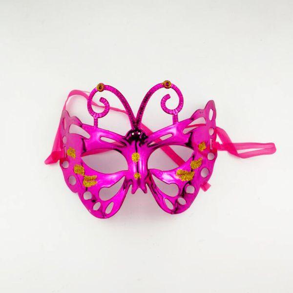 Adulte Enfant drôle de mascarade de papillon Costume demi-masque facial pour Prop cosplay Party performance Vacances Halloween